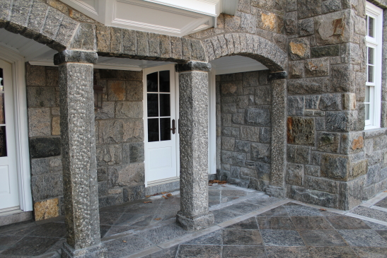 Hand Cut Granite Pillars