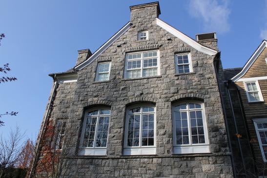 Stone home facade