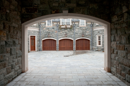 Granite and limestone porte-cochère
