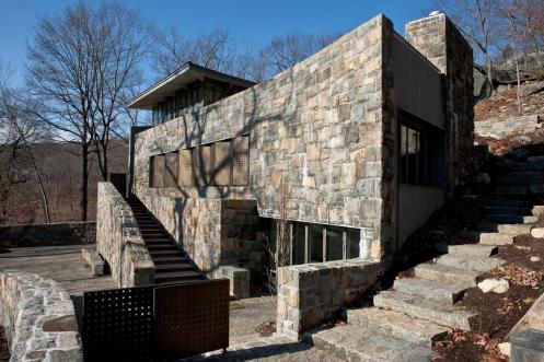 Veneer on home + landscape steppers