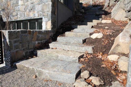 Split granite steps