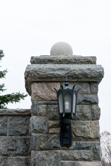 Stone Pier with Lantern